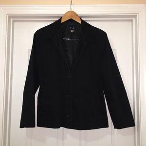 GAP Stretch Black Button Down Jacket Blazer Size 8